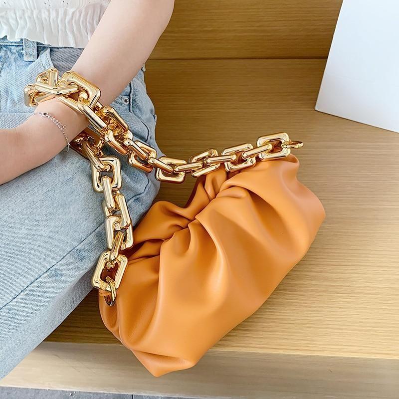 Women Cloud Soft Leather Bag Single Shoulder Purse Women Crossbody Luxury Handbag